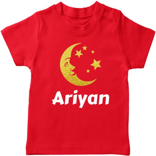Moon-Name-Customized-Tee-Red