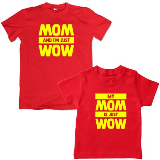 Mother-Kid-Combo-Matching-Tee-Red