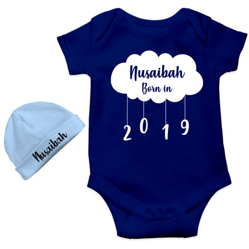 New-Born-Gift-Amazing-Baby-Romper-With-Beanie-Blue