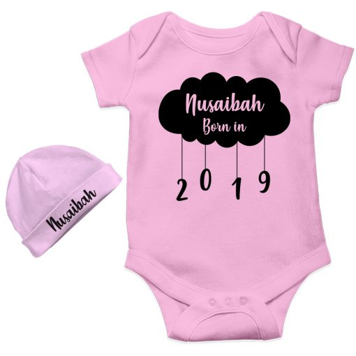 New-Born-Gift-Amazing-Baby-Romper-With-Beanie-Pink