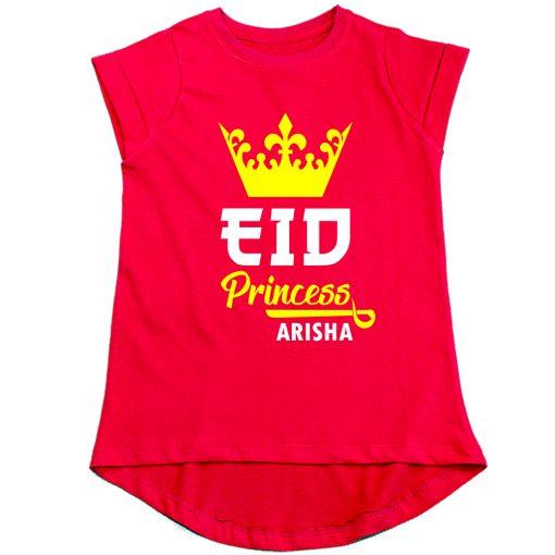 Princess-Eid-Girls-Tee-Red