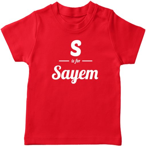 S-is-for-Customized-Name-T-Shirt-Red