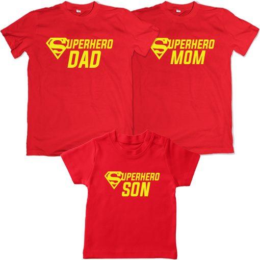 Superhero-Family-Combo-Matching-Tee-Red