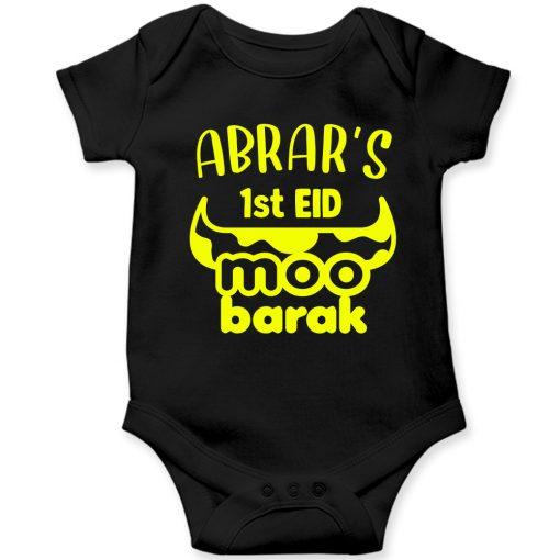 Unique-Horn-Eid-Baby-Romper-Black