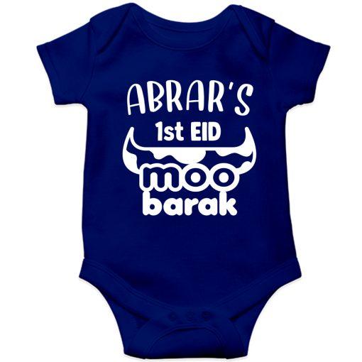 Unique-Horn-Eid-Baby-Romper-Blue
