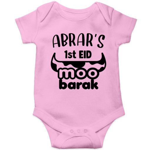 Unique-Horn-Eid-Baby-Romper-Pink