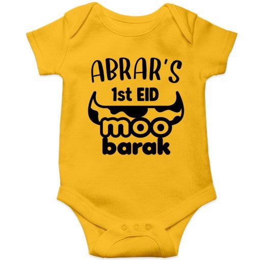 Unique-Horn-Eid-Baby-Romper-Yellow