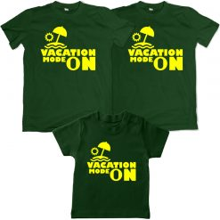 Vacation Mode Family Matching Green T-shirt