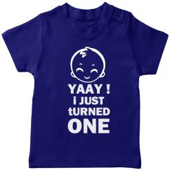 Yaay-I-just-turned-Age-Birthday-Celebration-T-Shirt-Blue