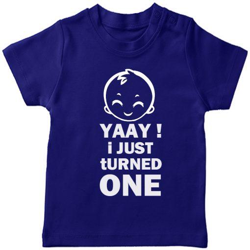 Yaay-I-just-turned-Age-Birthday-Celebration-T-Shirt-Blue