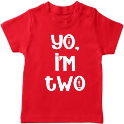 Yo-I-am-Two-Birthday-Celebration-T-Shirt-Red