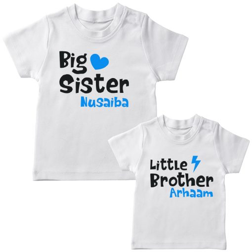 Big-&-Little-Sister-Brother-Combo-T-Shirt-White