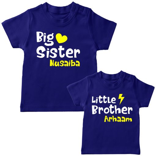 Big-&-Little-Sister-Brother-Combo-T-Shirt-Blue