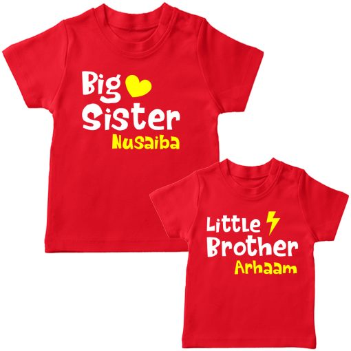Big-&-Little-Sister-Brother-Combo-T-Shirt-Red