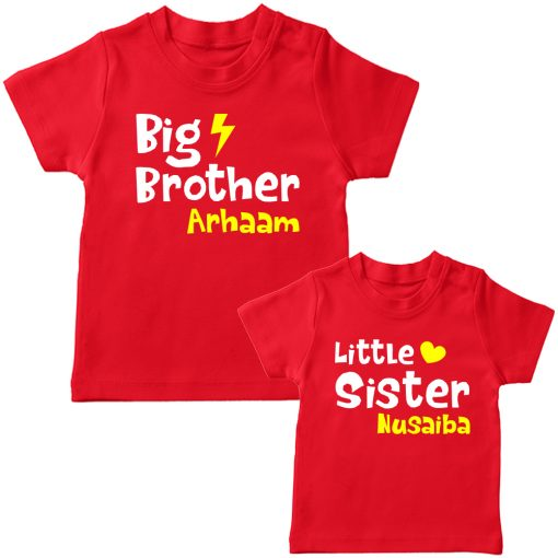 Big-&-Little-Brother-Sister-Combo-T-Shirt-Red