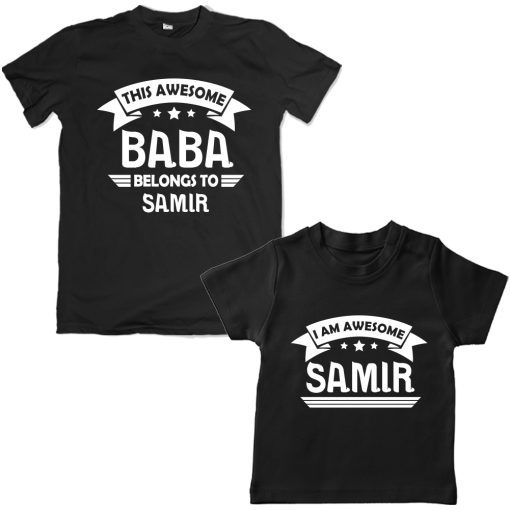 Awesome-BABA-Family-Combo-T-Shirt-Black