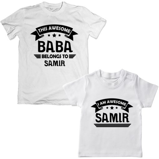 Awesome-BABA-Family-Combo-T-Shirt-White