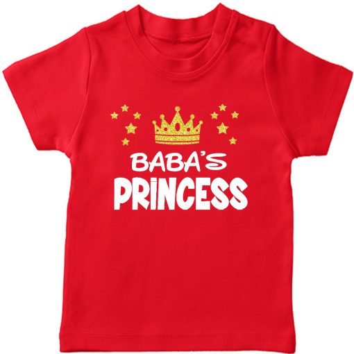 Baba's Princess T-Shirt Red