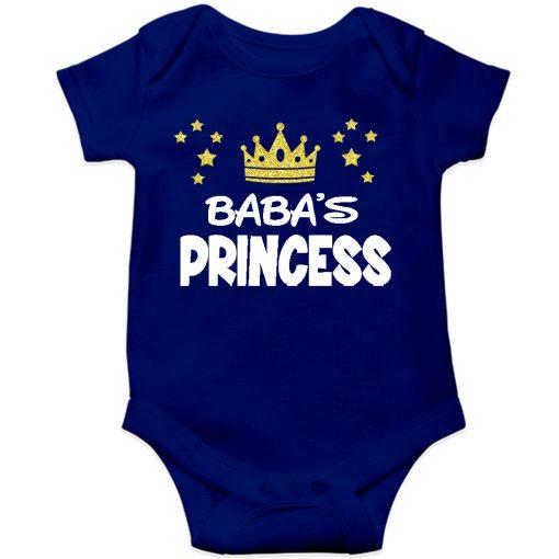 Baba's Princess Baby Romper Blue