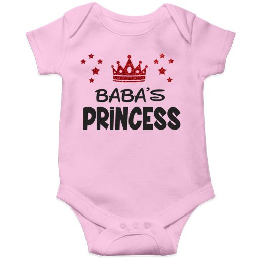 Baba's Princess Baby Romper Pink