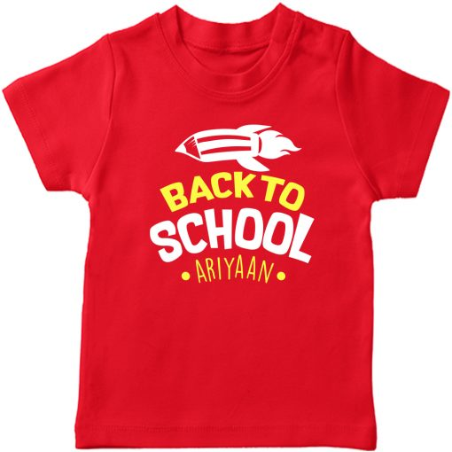 Back-to-School-with-Custom-Name-T-Shirt-Red