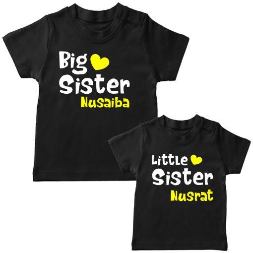 Big-&-Little-Sister-Combo-T-Shirt-Black