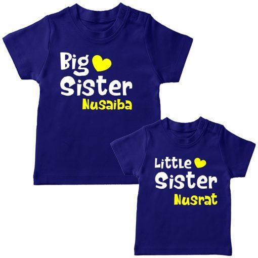 Big-&-Little-Sister-Combo-T-Shirt-Blue