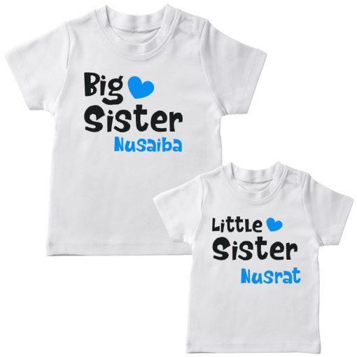 Big-&-Little-Sister-Combo-T-Shirt-White