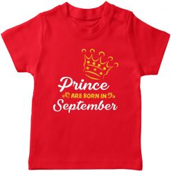 Born-in-Month-T-Shirt-Red