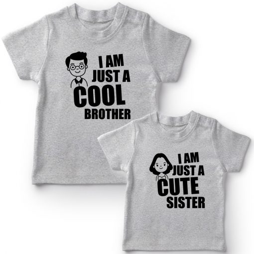 Cool-Bro-&-Cute-Sister-Combo-Siblings-T-Shirt-Grey