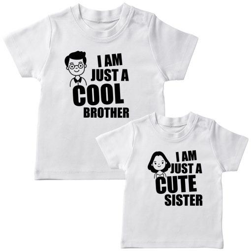 Cool-Bro-&-Cute-Sister-Combo-Siblings-T-Shirt-White