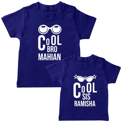 Cool-Brother-Sister-Combo-T-Shirt-Blue