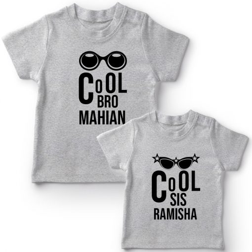 Cool-Brother-Sister-Combo-T-Shirt-Grey