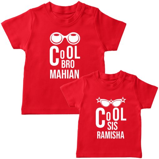 Cool-Brother-Sister-Combo-T-Shirt-Red