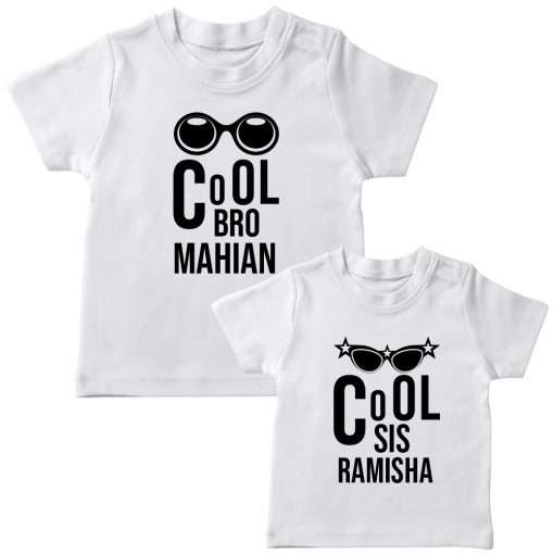 Cool-Brother-Sister-Combo-T-Shirt-White