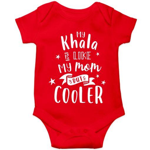 Cooler-Aunt-Baby-Romper-Red