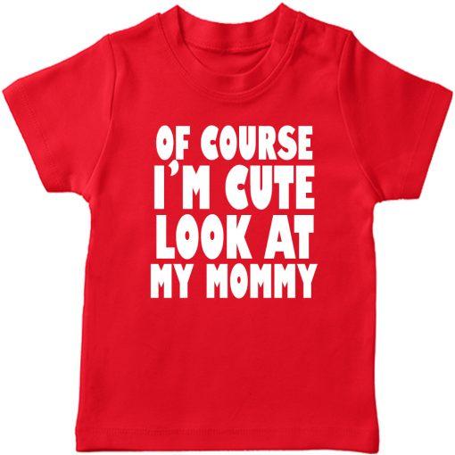 Cute-Like-Mom-T-Shirt-Red