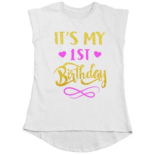 First-Birthday-Beautiful-Designed-Girls-T-Shirt-White