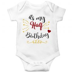Half-Birthday-Celebration-Baby-Romper-White