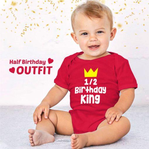 Half-Birthday-King-Baby-Romper-Content
