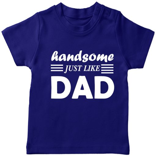 Handsome-Like-Dad-Boys-T-Shirt-Blue