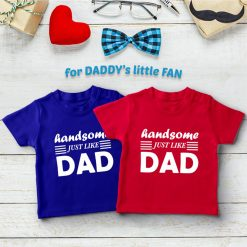Handsome-Like-Dad-Boys-T-Shirt-Content