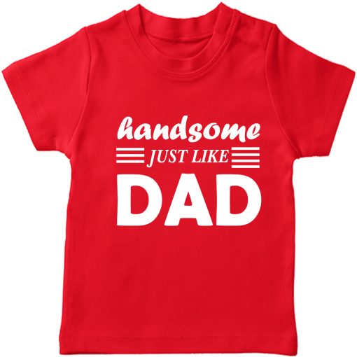 Handsome-Like-Dad-Boys-T-Shirt-Red