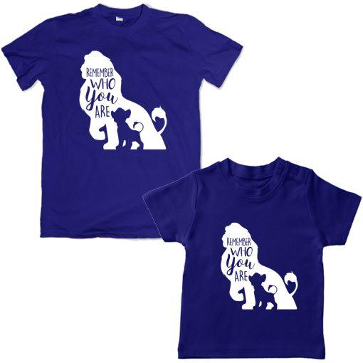 Lion-King-Dad-Son-Combo-T-Shirt-Blue
