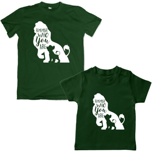 Lion-King-Dad-Son-Combo-T-Shirt-Green
