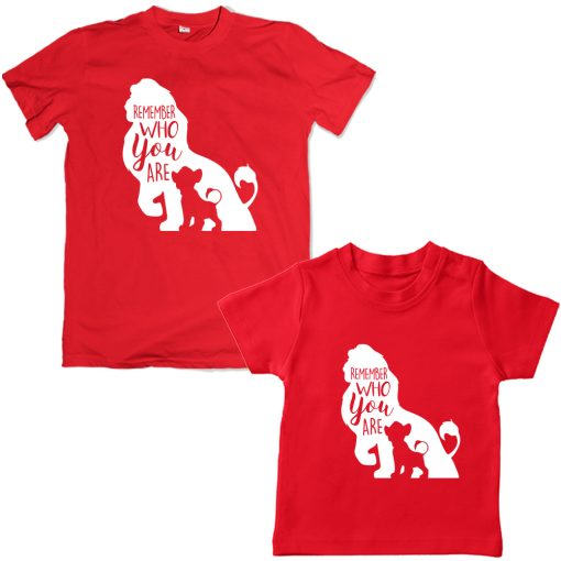 Lion-King-Dad-Son-Combo-T-Shirt-Red