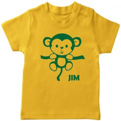 Name-with-Hanging-Monkey-T-Shirt-Yellow
