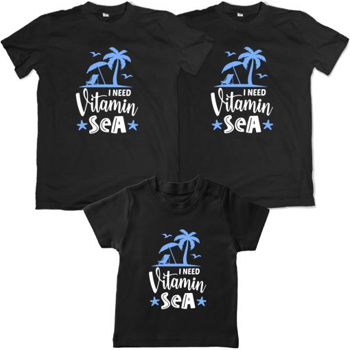 Vitamin-Sea-Beach-Combo-T-Shirt-Black