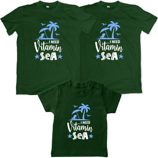 Vitamin-Sea-Beach-Combo-T-Shirt-Green