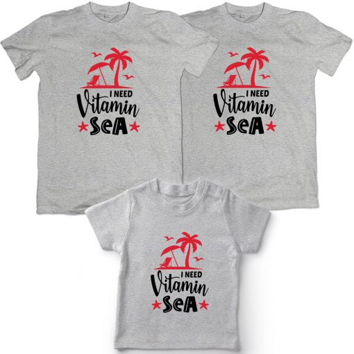 Vitamin-Sea-Beach-Combo-T-Shirt-Grey